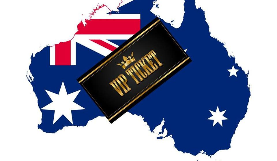 Australia VIP Experience ticket upgrades on sale tonight UK 10pm/Aus 9am