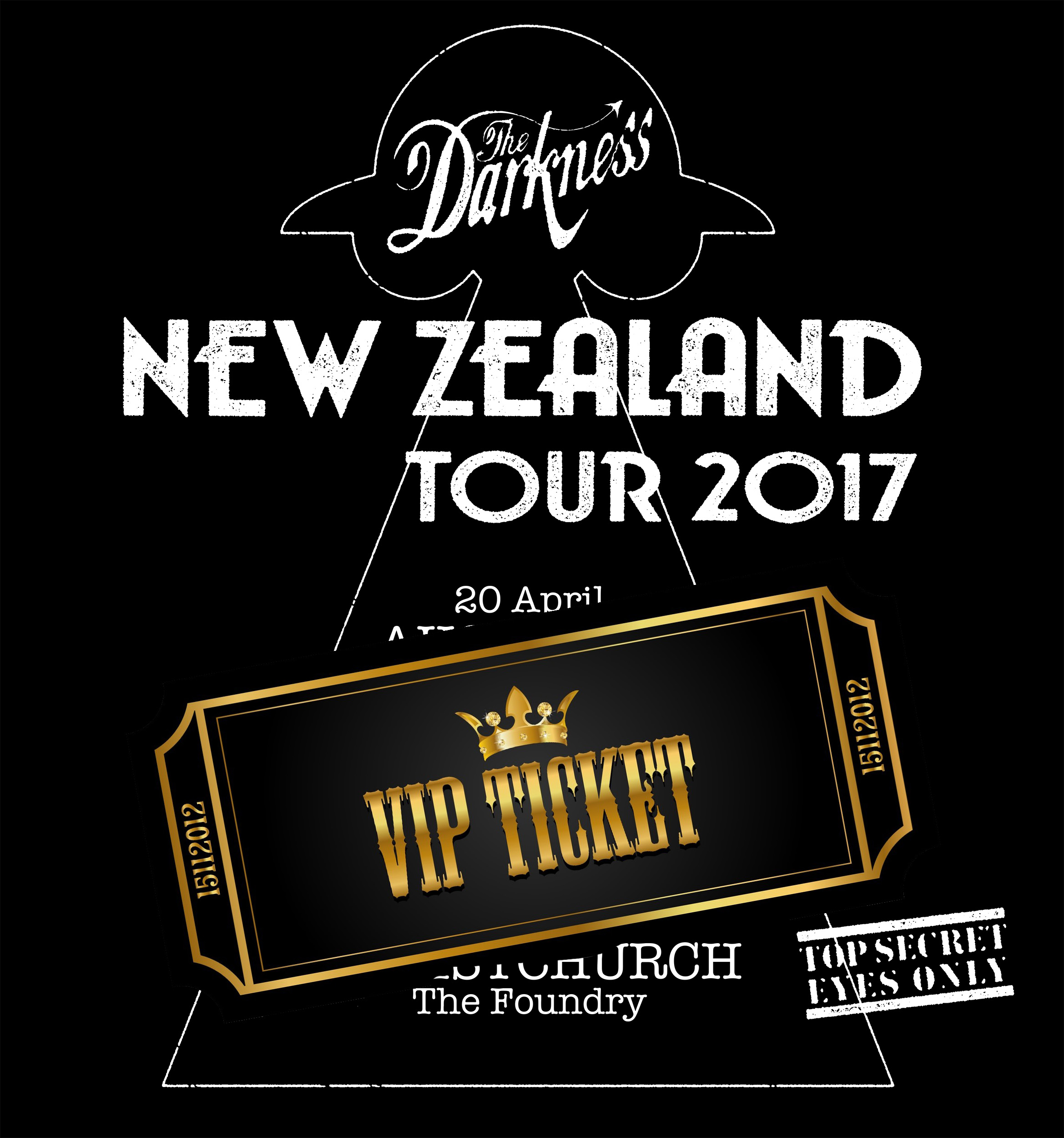 New Zealand VIP Experience Ticket upgrades – The Darkness